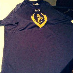"UnderArmour Mens HeatGear Small T-shirt w/""C"" logo"